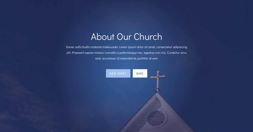 church website wordpress