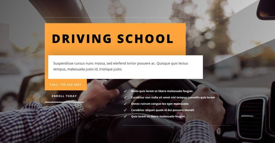 Driving School Website